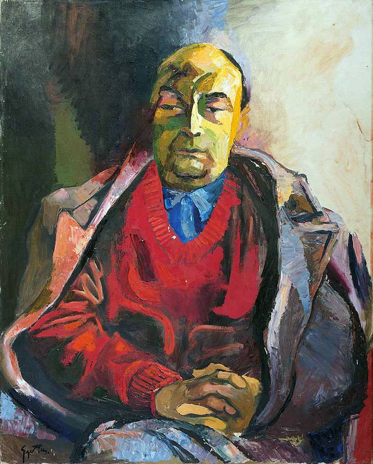 Renato Guttuso - Portrait of Pablo Neruda