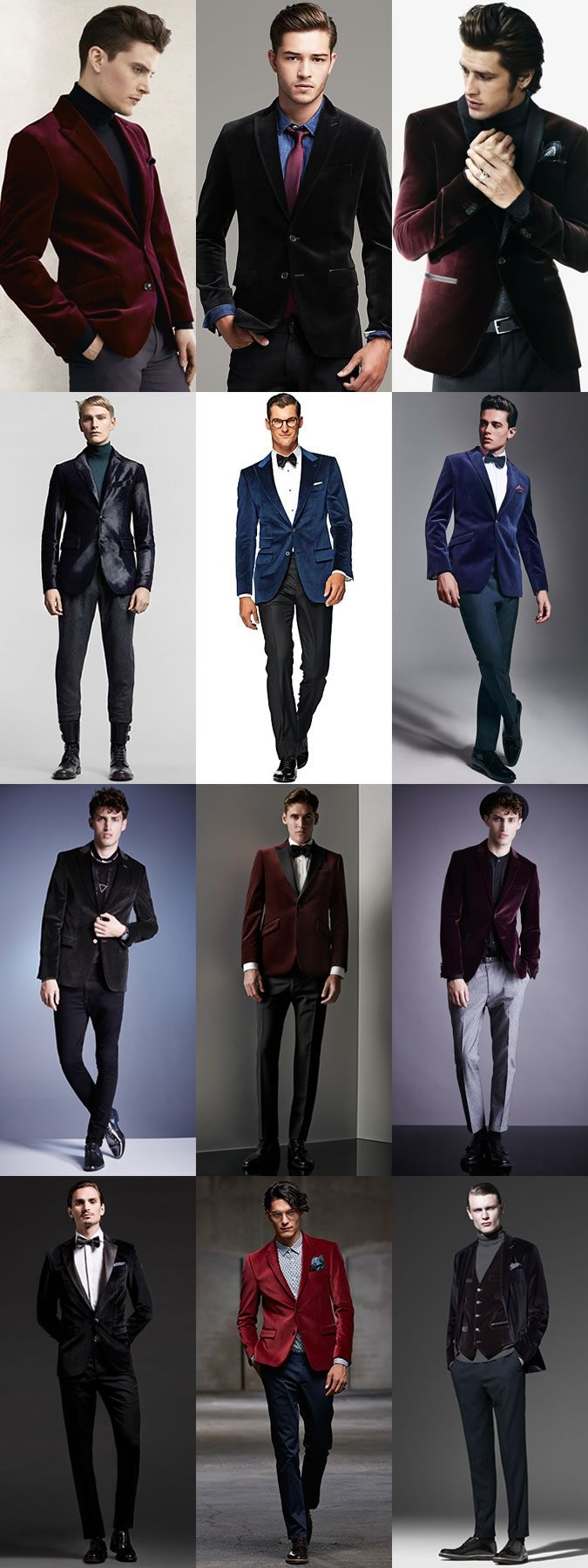 //Men's Velvet Blazer Outfit Inspiration Lookbook #fashion #menswear