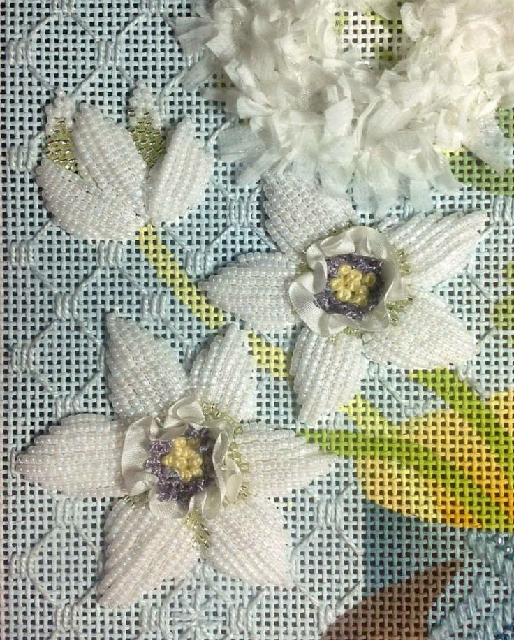 background stitch, needlepoint narcissus
