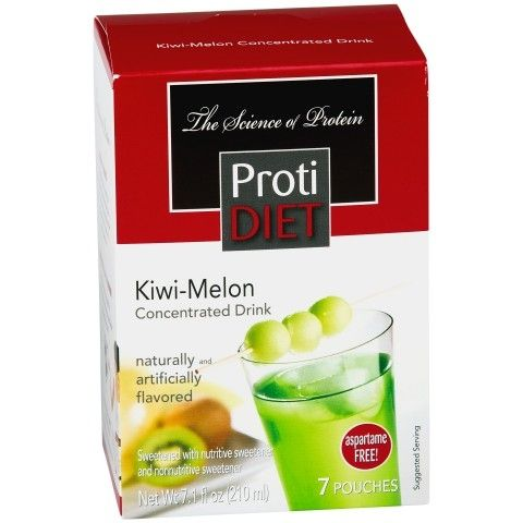 Bariatricdirect.com Kiwi Melon Fruit Drink Concentrate is packed with 15 grams of protein, 70 calories, and a delicious green Jolly Rancher flavor.