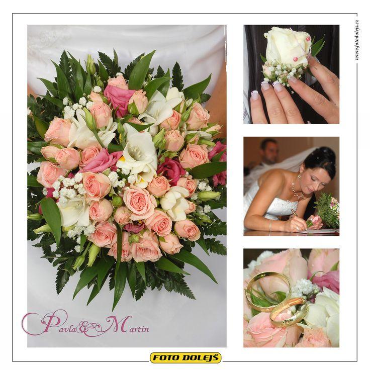 Svatební květiny Pavly a Martina