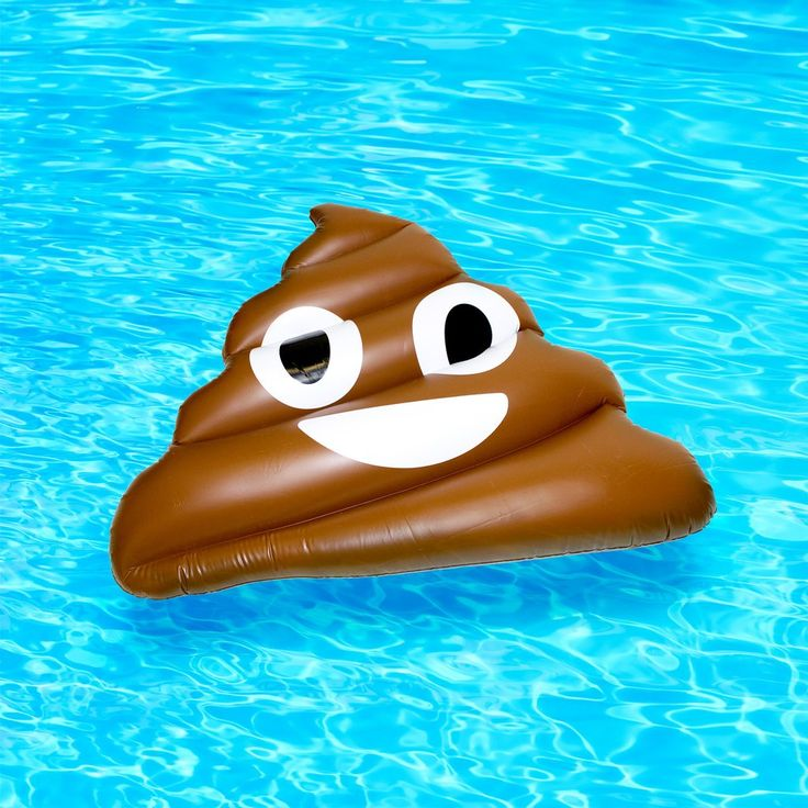 Obvious joke: The cool thing about this type of pool accident is that you can float on it on your own... Cause it floats, get it? Okay, bye!    This inflatable is built with thick plastic to last many summers. From top to bottom the Poo Emoji Inflatable is approximately 165cm (5 feet, 5 inches).