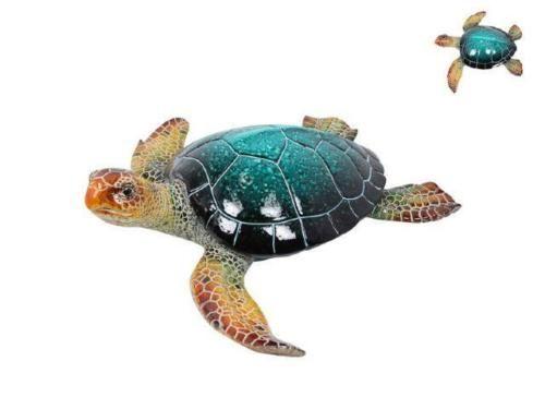 Turtle-Marble-Look-Blue-Turtle-Realistic-indoor-Ornament-Figurine-Statue