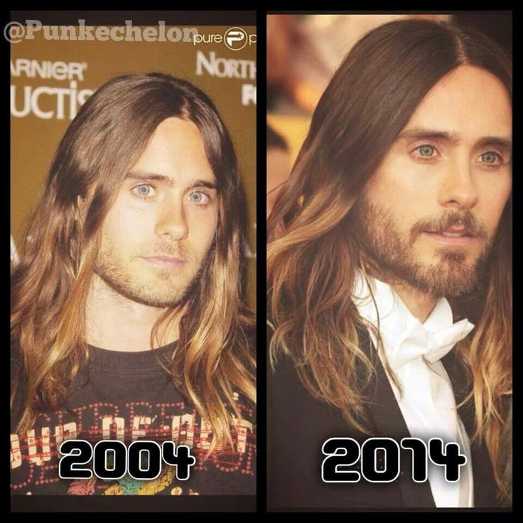 He does not age, the beard thing makes him look a little older, but not a ton
