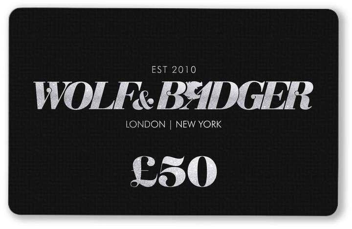 Wolf Badger Digital Gift Card 50 Digital Gift Card Gift Card Cards