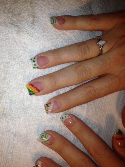Lucky st Patricks day nails