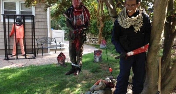 Residents in NJ Town Outraged Halloween Display Depicts President Obama as Terrorist | Kulture Kritic