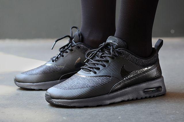 Nike Air Max Thea Premium Triple Black Running Shoes