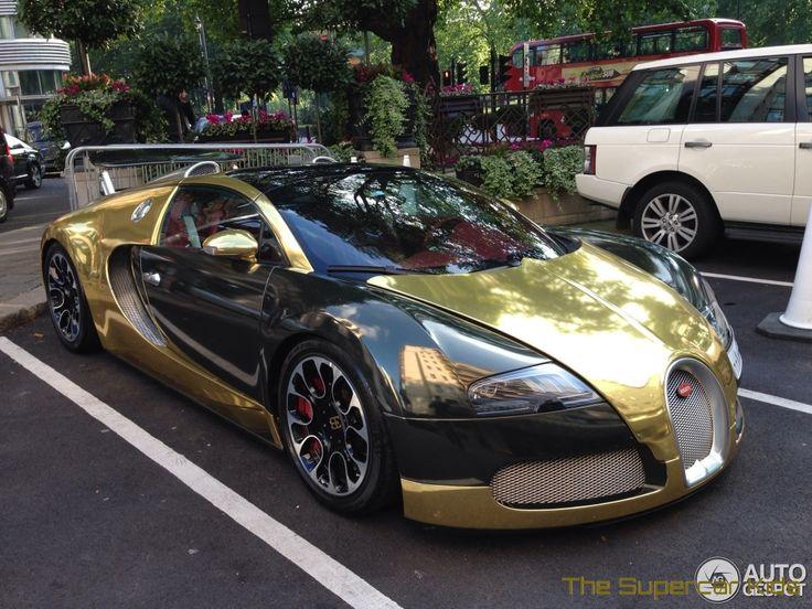 The Supercar Kids Golden Bugatti Veyron Grand Sport Hits London