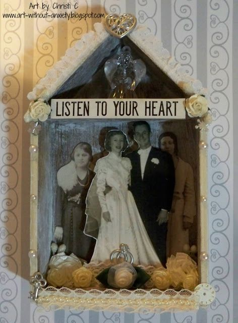 Tribute to my parents ~ Tim Holtz, assemblage, mixed media, 3D