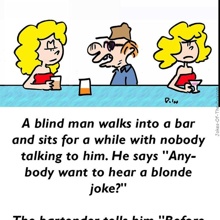 Blind Man and the Blonde - #Funny #Joke