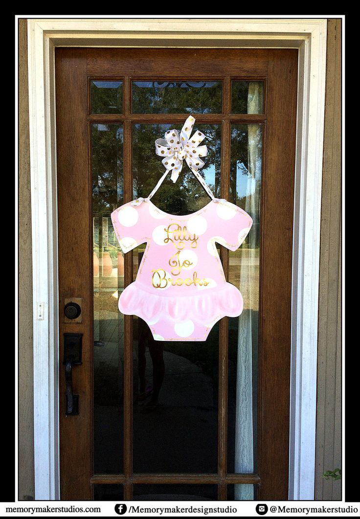 Hospital Door Baby Tutu Welcome Home Baby Sign Welcome Baby Personalized Door Hanger Choose your colors Birth Stats Baby Outfit with tutu by MemoryMakerStudio on Etsy