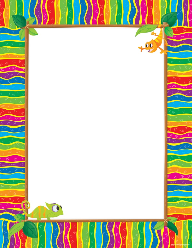 Chameleon Printer Paper | Colorful Printer Paper That Can Be Used As  Awards, Invitations,. Border TemplatesPaper ...