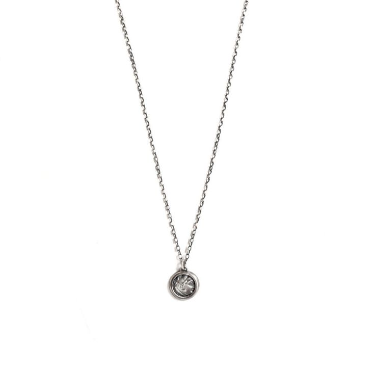 Roman Coin Pendant Necklace for Men on Sterling Silver Chain by TomerM on Etsy