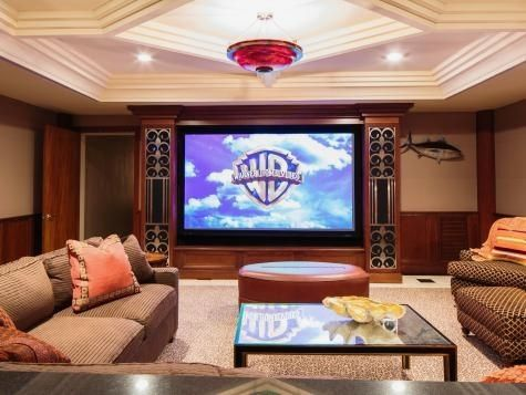 The Experts At Hgtv Com Share Tips For Home Theaters Including