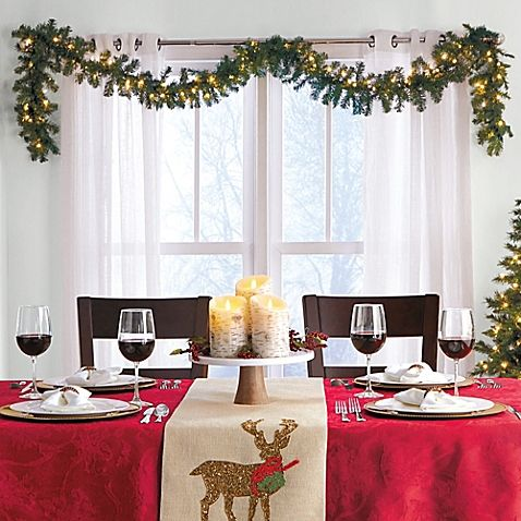 6-Foot Pre-lit Christmas Garland (Set of 2)