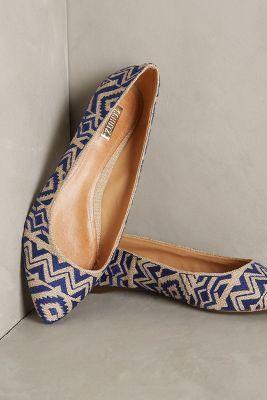 Wedge sandals - Schutz Darlyn Skimmers Blue Motif 6. Rain Shoes
