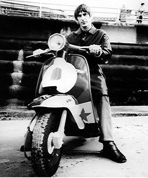 Paul Weller #9 The Jam Mods Scooter Canvas Art Poster