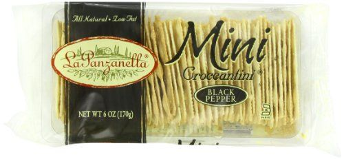 La Panzanella Black Pepper Mini Croccantini 6Ounce Packages Pack of 6 -- To view further for this item, visit the image link.