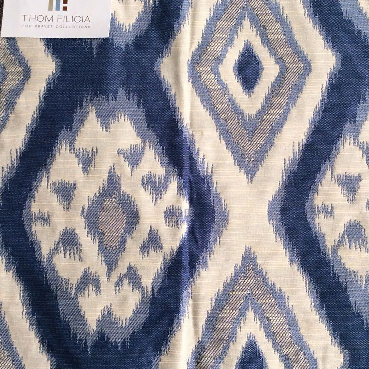 this gorgeous ikat fabric will soon be new drapery in my family room fabric by
