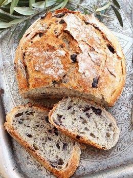Whole Wheat Bread ~500 g whole wheat flour ~320 ml warm water ~15 g fresh yeast / 4 g dry yeast ~1 teaspoon honey / sugar ~1 teaspoon salt ~100-125 g black olives