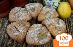Фото рецепта: «Овсяные кексы с грушей»