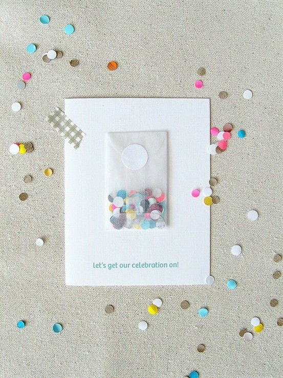 sweet little confetti packets on an invitation
