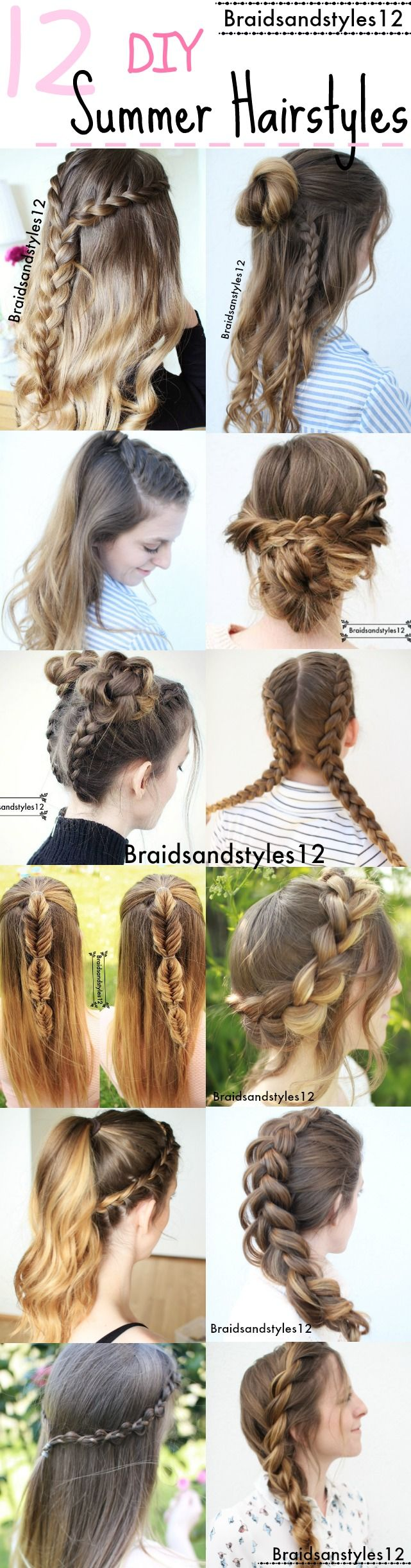 12 Gorgeous DIY Summer Hairstyle Ideas by Braidsanstyles12. Beachy Hairstyles by Braidsandstyles12.