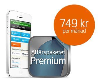 Beställ iPhone 5 med vårt bästa Affärspaket så får du fria samtal inom Skandinavien.