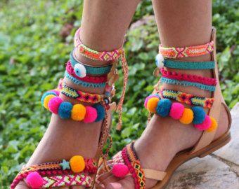 Sandals Tahiti handmade to order by ElinaLinardaki on Etsy