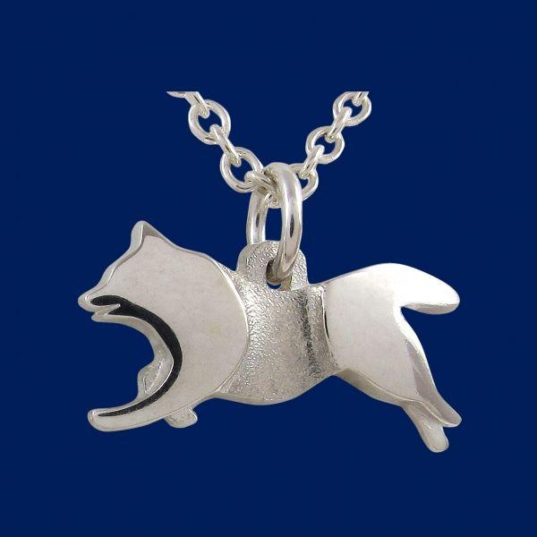 Lapphund is a traditional Lappish breed used in herding of reindeers. Design Sami Viitasaari / Taigakoru - Jewellery from Lapland.