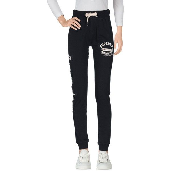 Superdry Casual Trouser (205 BRL) ❤ liked on Polyvore featuring pants, dark blue, embroidered pants, mid rise pants, peg-leg pants, drawstring trousers and tapered leg pants