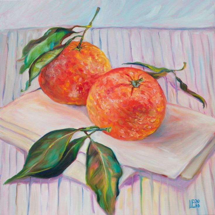 Buy Two Tangerines, Oil painting by Liudmila Pisliakova on Artfinder. Discover thousands of other original paintings, prints, sculptures and photography from independent artists.