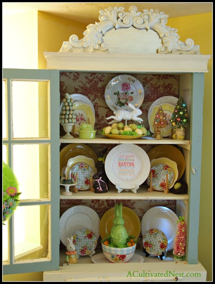 china cabinet cabinet decor holiday themes holiday ideas easter decor