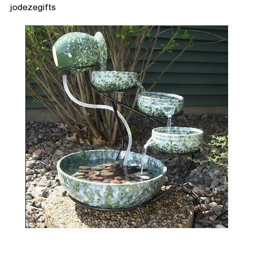 Exceptionnel Solar Water Fountain Outdoor Ceramic Waterfall Tier Garden Patio Yard Decor  New | EBay Purchase From