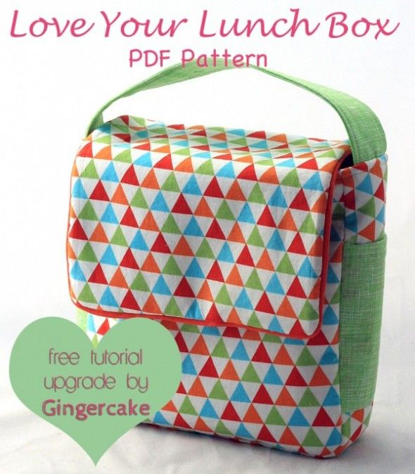 love your lunch box pdf pattern by ginger cake / fabric by ann kelle