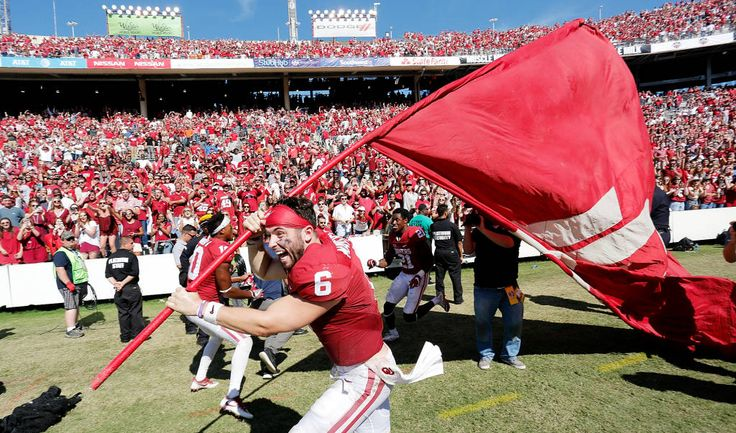 OU beats Texas and Mayfield is going to plant the OU flag in the middle of the field.