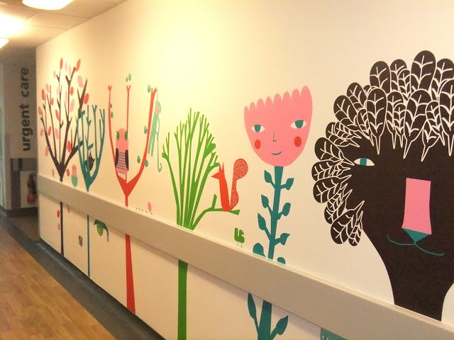 Donna Wilson Mural | Friendly Forest for St Georges Hospital Children's Emergency Department.