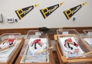 St. Clair Hospital is putting newborns in Pirates onesies and red bandanas. High five St. Clair Hospital!