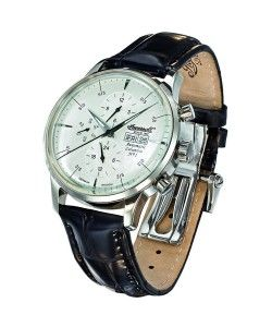 INGERSOLL Automatic Columbia Black Leather Strap (IN2819WH)