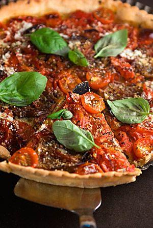 Tomato basil tart.