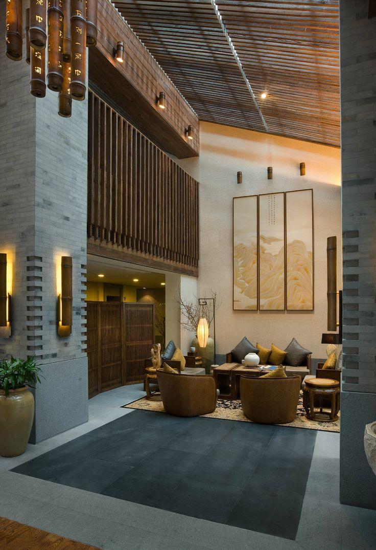 3d rendering luxury hotel lobby china luxury china hotel lobby -  2