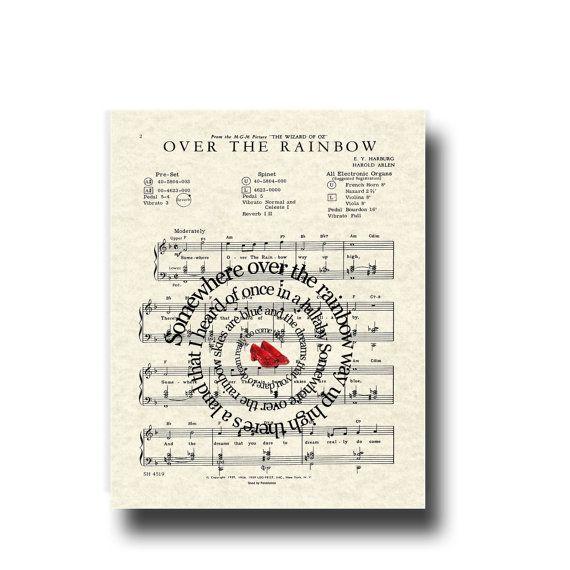Over The Rainbow Lyrics Sheet Music: 17 Best Ideas About Wizard Of Oz Songs On Pinterest