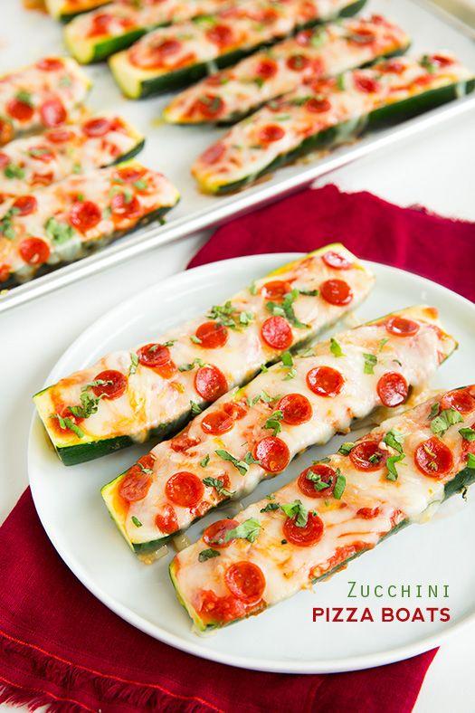 Zucchini Pizza Boats - Cooking Classy