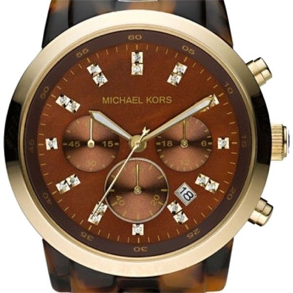 Pre-owned Michael Kors Oversize Tortoise Watch ($140) ❤ liked on Polyvore featuring jewelry, watches, accessories, tortoise, michael kors jewelry, gold wristwatches, michael kors, gold wrist watch and oversized gold watches