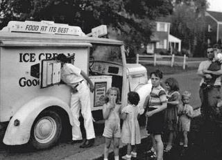 We waited for the Good Humor ice cream man to come to our street!