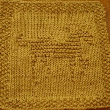 Knit Dishcloth Pattern Horse : Patterns, Dishcloth and Farms on Pinterest