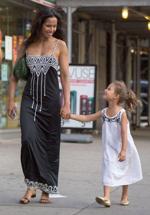 Padma Lakshmi & Her Daughter Walk Through The East Village