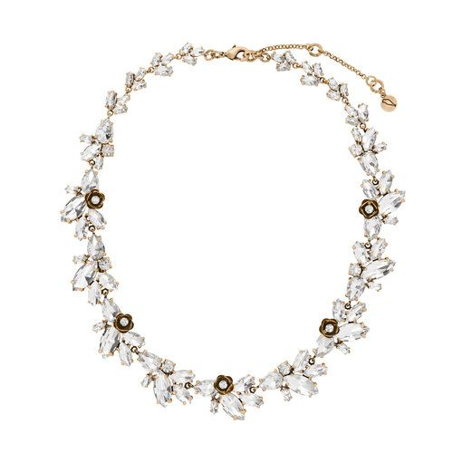 Rosette Statement Collar Necklace - Shop now in my boutique https://www.chloeandisabel.com/boutique/lizstorey #chloeandisabel #jewelry #bridal