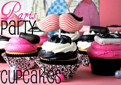 mustache cupcakes!!